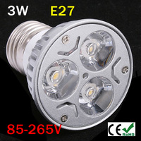 100pcs/lot GU5.3 gu10 e27 3W LED spotlight Bulb Warm White Cool White Red Green Blue LED celling light down light lamp Epistar