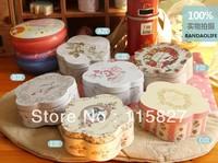 Free Shipping! 6pcs/lot Creative Flower Shape Candy Box Storage Case Jewerly Box Sundries Organizer Mixed designs Gift case
