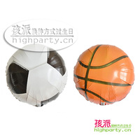 Highparty birthday supplies party supplies 18 football basketball aluminum foil balloon 1