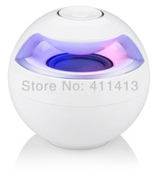 100pcs 2014 beautiful Portable Round Bluetooth speaker Stereo sound Support the card and mobile phone answering functions.