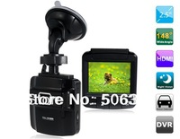 "Free shipping+Car dvr 2014 AT650 2.5"" TFT Screen Novatek 148 Wide-angle Single Lens Vehicle Black Box DVR Camera IR Night Vision"