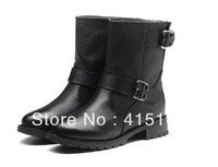 FREE SHIPPING! women Boots female spring and autumn 2012 fashion women's martin boots flat vintage buckle motorcycle boots