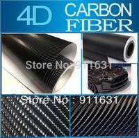"""1181""""x60"""" 98FTx5FT  Black 4D Carbon Fiber Vinyl Sticker Moblie Car Carbon Fiber Sticker Wrap Foil #A120C"""