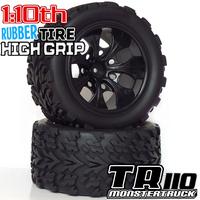 1:10 rc monster truck car tires off road tires 12mm Hub 4PCS Wheel Rim & Tires foam insert tires