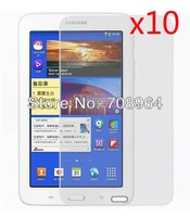 "10xNew LCD Clear Screen Protector Film Films Guards+Stylus For Samsung Galaxy Tab 3 Lite 7"" T110/T111 Tablet PC,Free shipping"