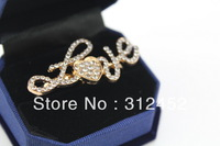 Korean fashion Crystal rhinestone rings jewelry wholesale Free shipping