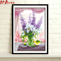 Violet cross stitch painting series 3d cross stitch flower 3d cross stitch new arrival
