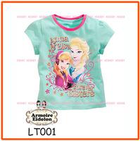 Girls Frozen T Shirts Kids Summer Short Sleeve Clothes New 2014 Wholesale Children Princess T-Shrt LT001