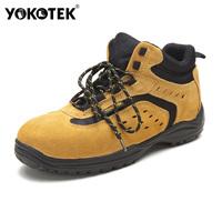 2014 Limited Rushed Medium(b,m) Pu Safety Shoes Steel Toe free Shipping Anti-slip High-top Fashion Men Smashing Safety Shoes