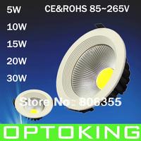 5W  LED COB DOWN  LIGHT 20PCS /LOT , DHL/FEDEX/UPS FREE SHIPPING  WHITE COVER  2YEARS GUARANTEE