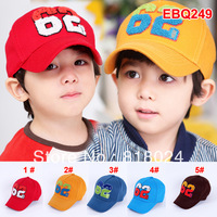 1pc 2014 spring 3D Letter Embroidery children accessories kid baseball cap hat baby boys girl sun hat for 2-6yrs Free Shipping