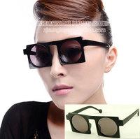 Free shipping wholesale Popular design Rubric unique circle lens non-mainstream sunglasses 1074 12  12pcs/lot