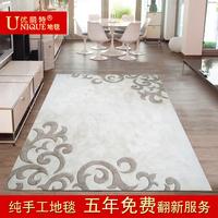 Handmade carpet modern brief wool bed blankets table mats