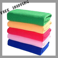[TOWEL] 50g 30*70cm 10pcs/lot Multifunctional Super Dry Bath Towel Microfiber Magic Hair Towel Ultra Absorbent  Soft Lint