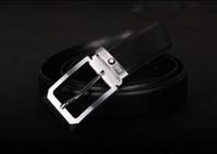 New Arrivals+1pcs/ lot+Fashion Designer Design Pin buckle Men's 100% Genuine Leather Leather Belt Black & Men's The best gift