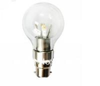 20pcs/lot E14 E27 E12 base fitting 3W AC85-265V warm /cold white LED candle bulb corn light Special Design Round Glass