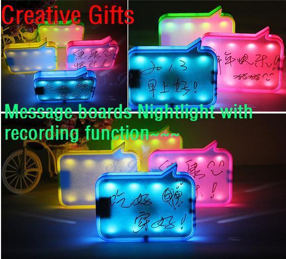 4pcs/lot Creative gift USB Charging Message Board message recorder Nightlight romantic birthday gift(China (Mainland))