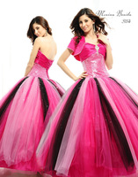 Breathtaking And Colorful Sequin Eden Bridal Quinceanera Dresses and Ball Gowns With Detachable Skirt