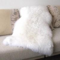 Pure sheepskin wool carpet wool sofa cushion wool pad piaochuang pad customize