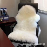 Sheepskin cushion pure wool fur one piece sofa cushion living room coffee table carpet