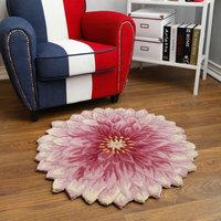 Cushion wool carpet bedside mat color lotus