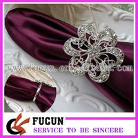 free shipping,2014 hot sale  rhinestone flower napkin ring ,50pcs/lot,high quality,shinning rhinestone