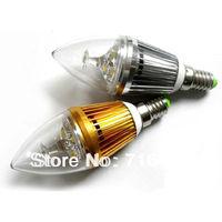 20pcs/lot E14 E27 3W AC85-265V warm /cold white LED candle bulb corn light high power led candle light
