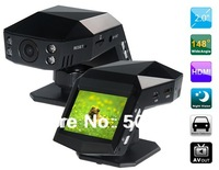 "Free shipping+Car dvr 2014 SC1003 2.0"" TFT Screen Novatek 148 Wide-angle Vehicle Black Box DVR Camera with Infrared Night Vision"