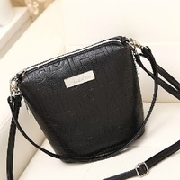 BUENO hot new letters women handbag bucket messenger bags small candy color shoulder bag HL1602