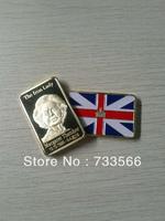 5pcs/lot With Plastic Case UK Histroy Woman The Iron Lady Margaret Thatcher Gold Plated UK Souvenir Bar