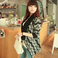 Free shipping 2014 spring elegant loose knitted shawl sweater female cardigan