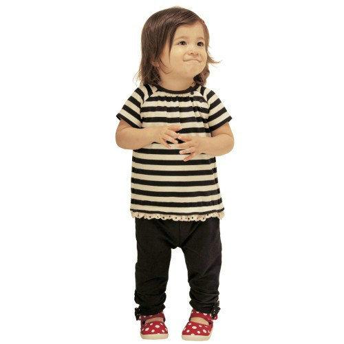 Retail 2 pcs/set new style 2014 summer fashion girl clothing striped bowtie T-shirt + long kids pants baby girls clothing sets(China (Mainland))