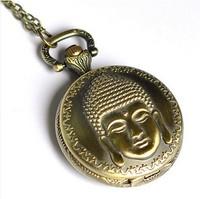 Free Shopping X-001 Buddha Necklace pocket watch wholesale antique fashion High Quality