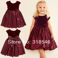 Free shipping 5pcs/lot  children clothing girls dress baby girls summer dress girls party dress girl princess bow dress 1-6years
