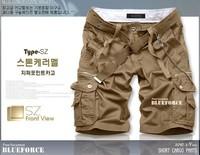 promotion Free shipping fashion men's multi-pocket overalls cotton men shorts casual short pants men knickers free shipping