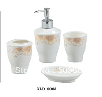 Modern Special Designed 4PCS Ceramic Bathroom Accessory Soap Dispenser Tumbler Soap Dish Toothbrush Holder MF-372