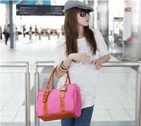 Hot sale New 2014 women handbag fashion stripe canvas handbag casual bags Student school bag women shoulder bags Free shipping