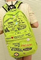 2014 New fashion Backpack Korean Style rucksack bag Graffiti style Drop Ship