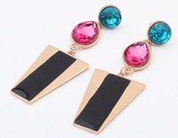 Fashion metal earring fashion geometry gem earrings fashion cxt99632
