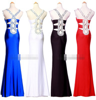 Sexy Hot Women Party Dress Sheath Slim Deep-V Neck Empire Waist Ankle-Length Special Occasion Party Dresses 0481