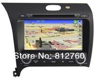 Free Shipping 8'' Car DVD Player For Kia /K3/Cerato/ Forte 2013 With Audio Video GPS Navigation BT IPOD ATV Radio 3G USB port