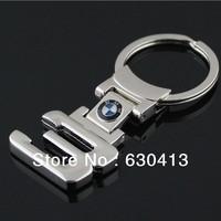 {J&X}1 pcs/lot New 3D Car Logo Keychain,Auto Car key chain,3 series meta key rings,3.99 USD only