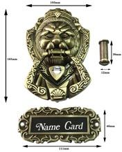 Bronze Antique Chinese lion head door handle knocker handle unicorn beast(Sizes:165mm * 103mm,Ring size:85mm*95mm)(China (Mainland))