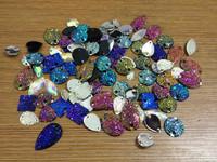 Free Shipping,50 gram mixed shape/colors resin sew on stones 90~100pcs/lot