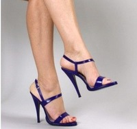 Blue sexy fashion sexy ultra high heels shoes large size shoes