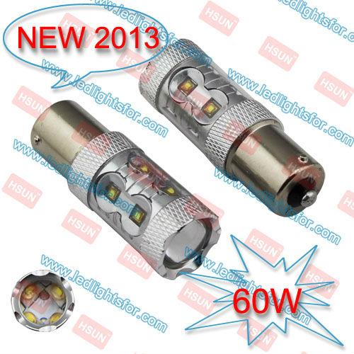 HOT SELL 2PCS BAU15S 60W High Power LED+2PCS T10 25W CREE XPE LED HP,S25 7507 LED BULB,PY21W CAR LIGHT,BAU15S LED(China (Mainland))