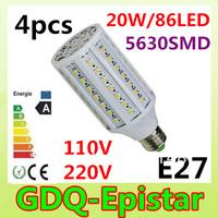 Free shipping 4x 20W 86LED 5630 SMD E27 E14 B22 Corn Bulb Light Maize Lamp LED Light Bulb Lamp LED Lighting Warm/Cool White