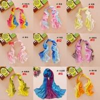 Nice Chiffon Scarf Women High Quality Gradual colors chiffon georgette silk scarves shawl female long design
