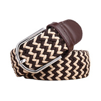 High Quality Fashion Brand Personality Elastic Canvas Woven Buckle Belts For Women / Men Belt 224