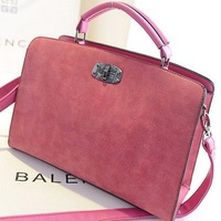 BUENO 2014 hot new scrub leather women handbag vintage messenger bags fashion lock shoulder bag HL1609